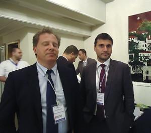 Edgar Coulomb et Fréderic Priest, respectivement directeur région Maghreb/west et Central Africa et directeur commercial Algérie Projets international d'Eiffage travaux publics.