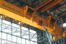 Nacelle télescopique GENIE SX-180  sur le chantier naval de Rotterdam