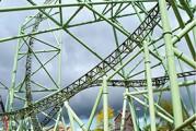 <span style='font-weight:300;'>Nacelle Genie  </span><br/>Les SX-180 et  S-85 à l'œuvre  pour le montage  du 3e plus Grand Huit d'Europe  (Hansa Park)