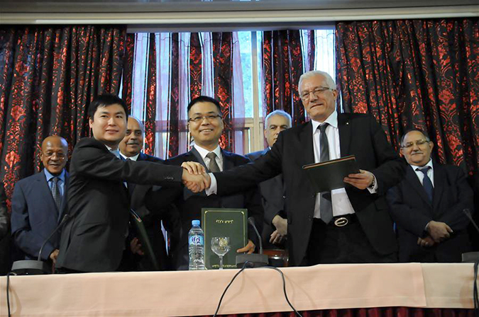 Algerie Chine accord pour qauis de cherchell