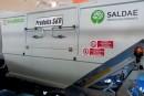 Saldae trucks équipement présente en avant la première la  benne à ordure monté en SKD et des équipements unicorn pour  le nettoyage des plages