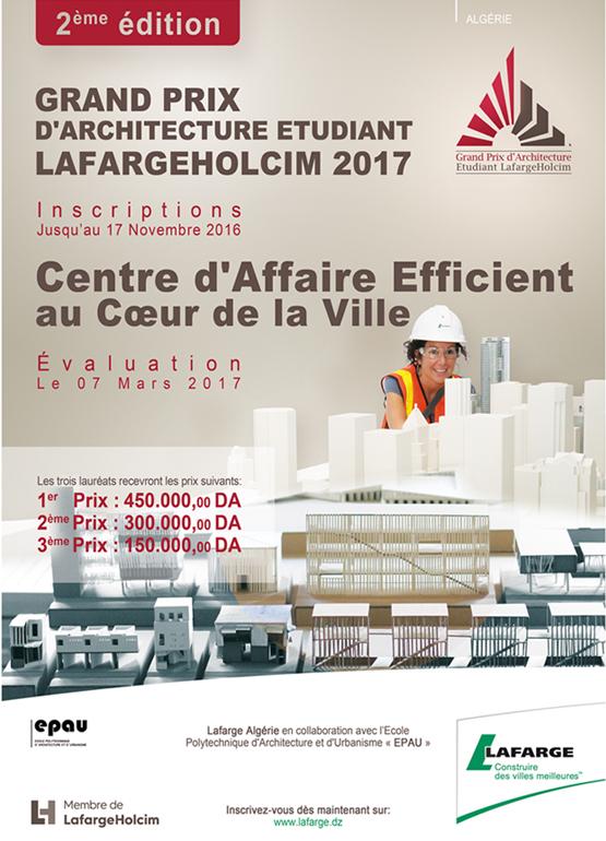 grand prix d'architecture etudiant lafargeholcim2017
