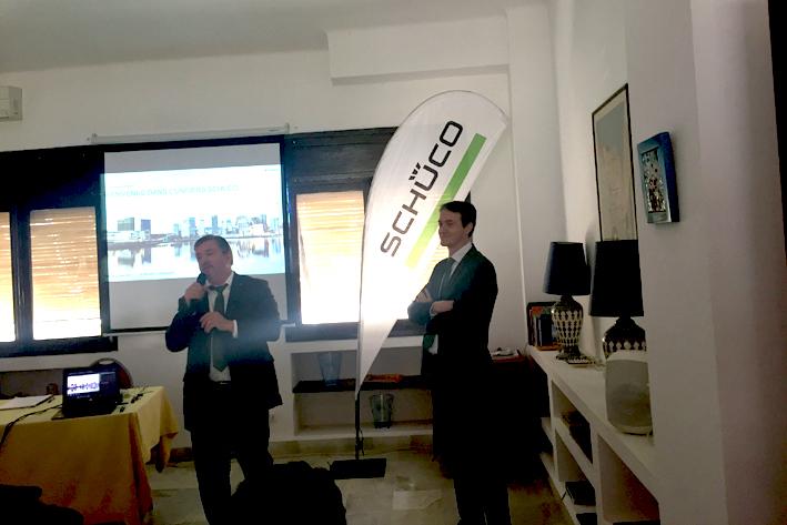 De gauche à droite , Emile Benquet, directeur export de Schuco international,  Aurelien Ansart, Inspecteur des ventes Aluminium et pvc à l'export.