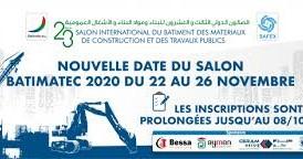 Nouvelle date du Salon Batimatec : Du 22 au 26 novembre 2020