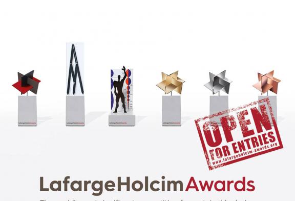 Appel  aux architectes de moins de 30 ans : Les inscriptions au  6e cycle du concours international Lafarge Holcim Awards sont ouvertes jusqu'au 25 février 2020