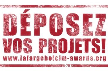Derniers jours pour s'inscrire aux LafargeHolcim Awards 2 Millions de Dollars de récompenses totales