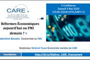 Conférence virtuelle  :  « Réformes Économiques aujourd'hui ou FMI demain ? » au menu du prochain webinar de Care