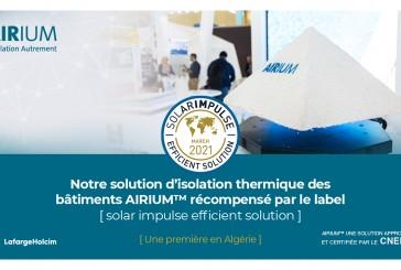 Isolation thermique des bâtiments : AIRIUM reçoit  le label [Solar Impulse Efficient Solution]